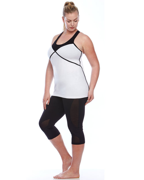 Zenith Gym Sport Yoga Athleisure Top | Plus Size Activewear
