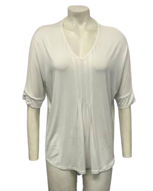 White Bamboo Casual Top - Sizes 10-18