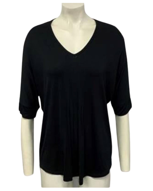 Black Bamboo Casual Top - Sizes 18 only