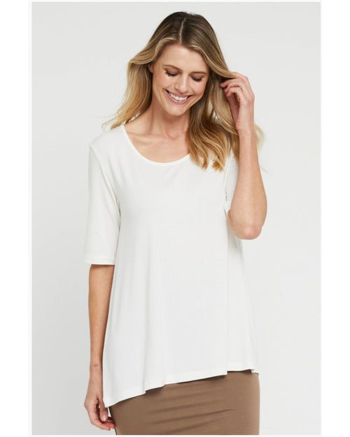 Carter Tunic - Ivory - Sizes 10-24