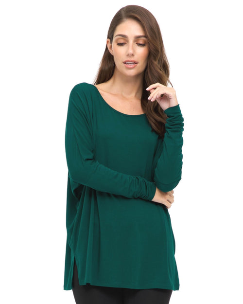 Bamboo Liv Long Sleeve Slouch Top