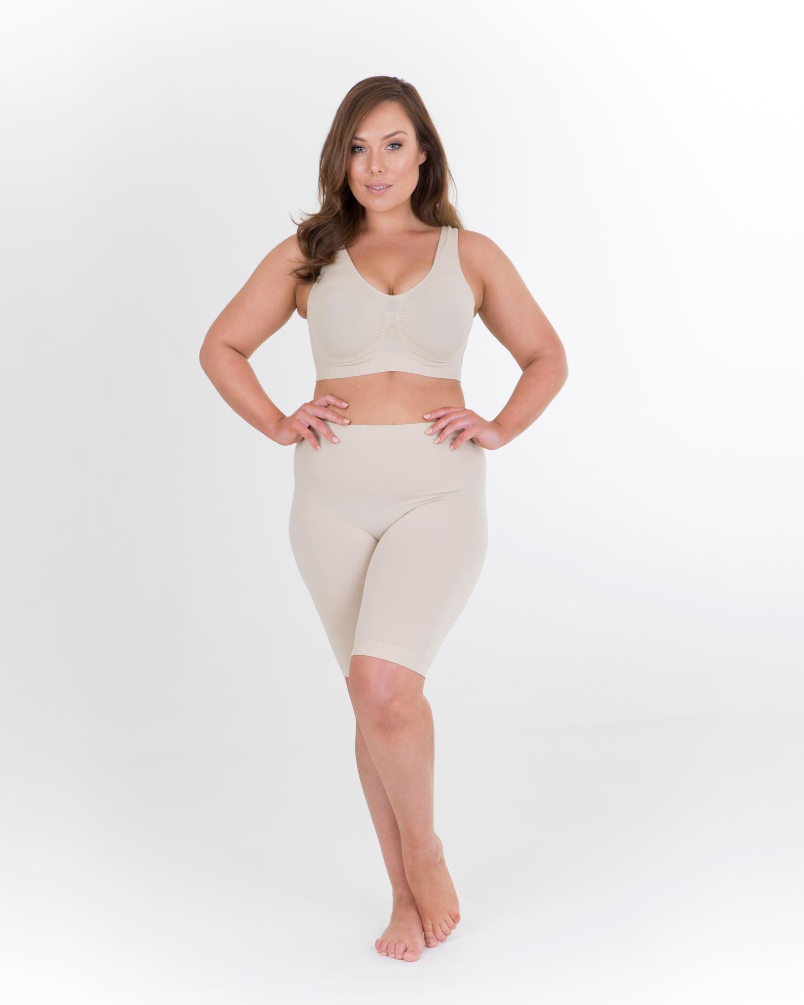 Anti Chafing Shorts Long & Bra Set -Nude  - BUY 2 & SAVE $10