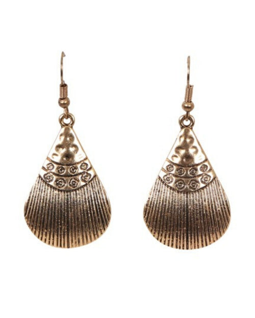 Luxor Earrings Shell Gold
