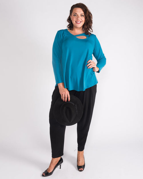 3/4 Sleeve Keyhole Swing Top - last sizes 14