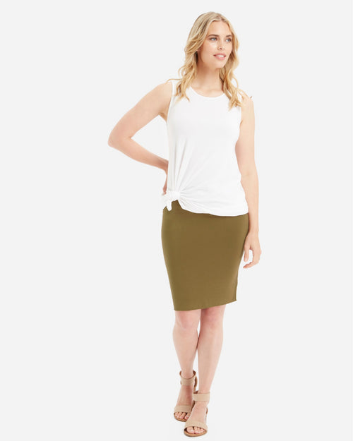 Double Layer Tube Skirt-Khaki