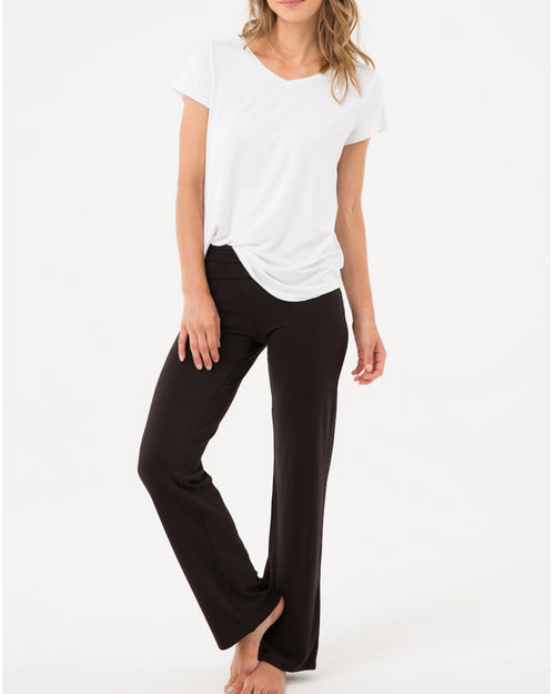 Essential Bamboo Pants- Black - Size 12-24 Petite Length