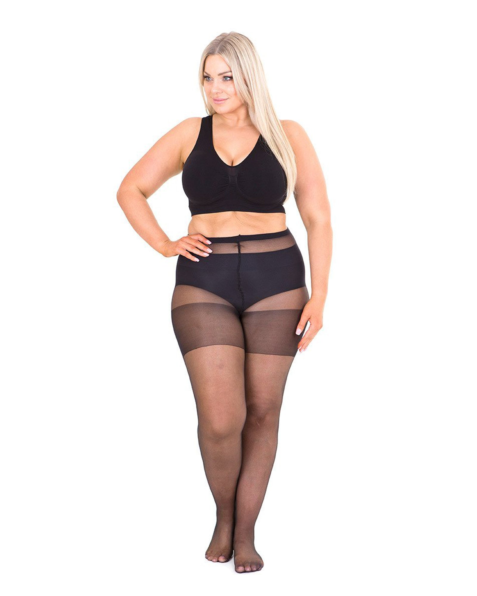 2 Pack Sheer 20 Denier Tights - Black & Nude - BUY 2 & SAVE $10