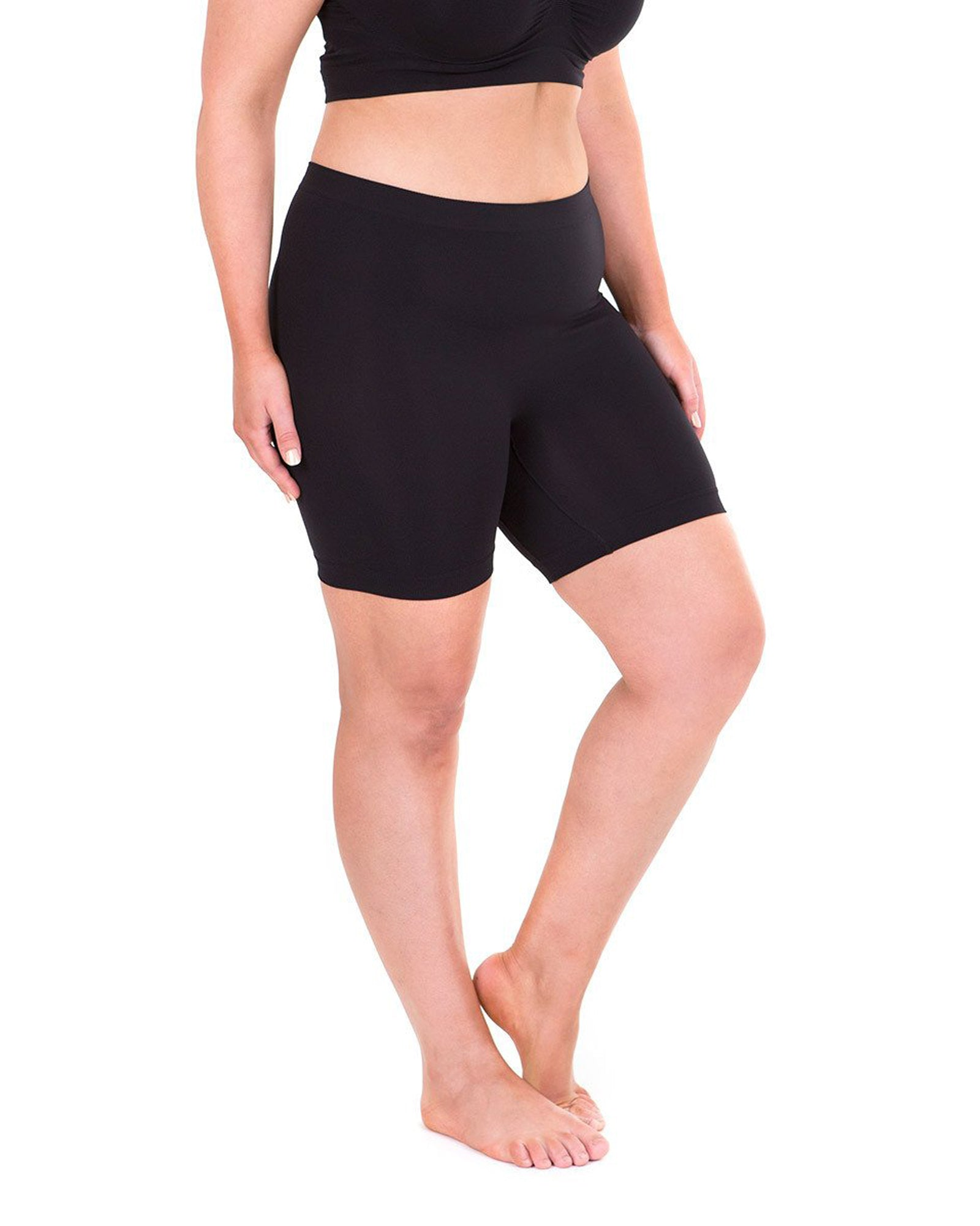 Anti Chafing Short Leg & Bra Set - Black - BUY 2 & SAVE $10