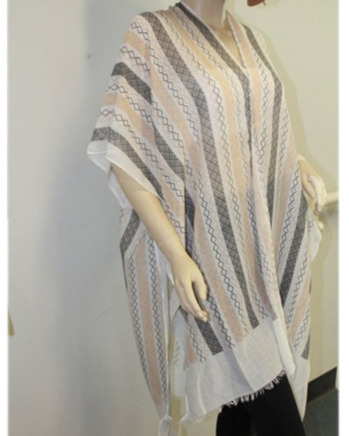 Tan Black Diamonds Cotton Beach Cover Up last one