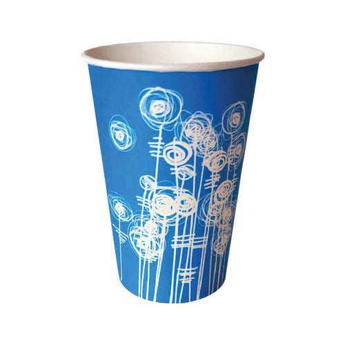 Paper Water Cups 7oz Aqua Swirl