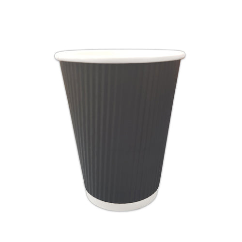 Black Ripple Paper Cup 9 oz