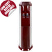 Clover mains water cooler, floor standing, wine red
