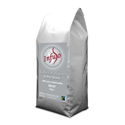 Infuso Italian Mahogany Fair Trade Coffee Whole Beans