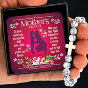 A Mother's Prayer For My Daughter - Keepsake Card with Stone Cross Bracelet
