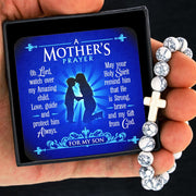 A Mother's Prayer For My Son - Keepsake Card with Stone Cross Bracelet