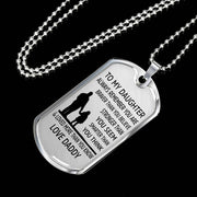 From Daddy to Daughter - Stainless Steel Necklace
