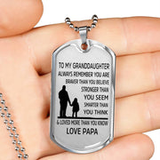From Papa to Granddaughter - Stainless Steel Necklace