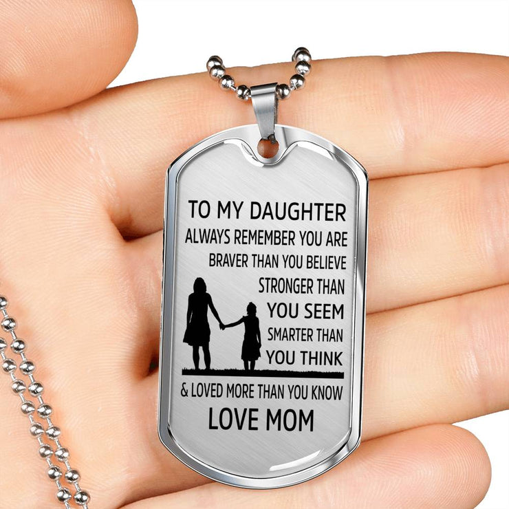 From Mom to Daughter - Stainless Steel Necklace