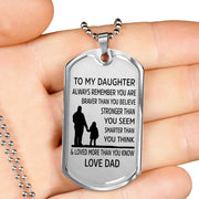 From Dad to Daughter - Stainless Steel Necklace
