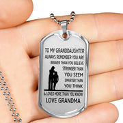 From Grandma to Granddaughter - Stainless Steel Necklace