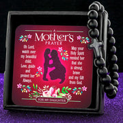 Black A Mother's Prayer For My Daughter - Keepsake Card with Stone Cross Bracelet