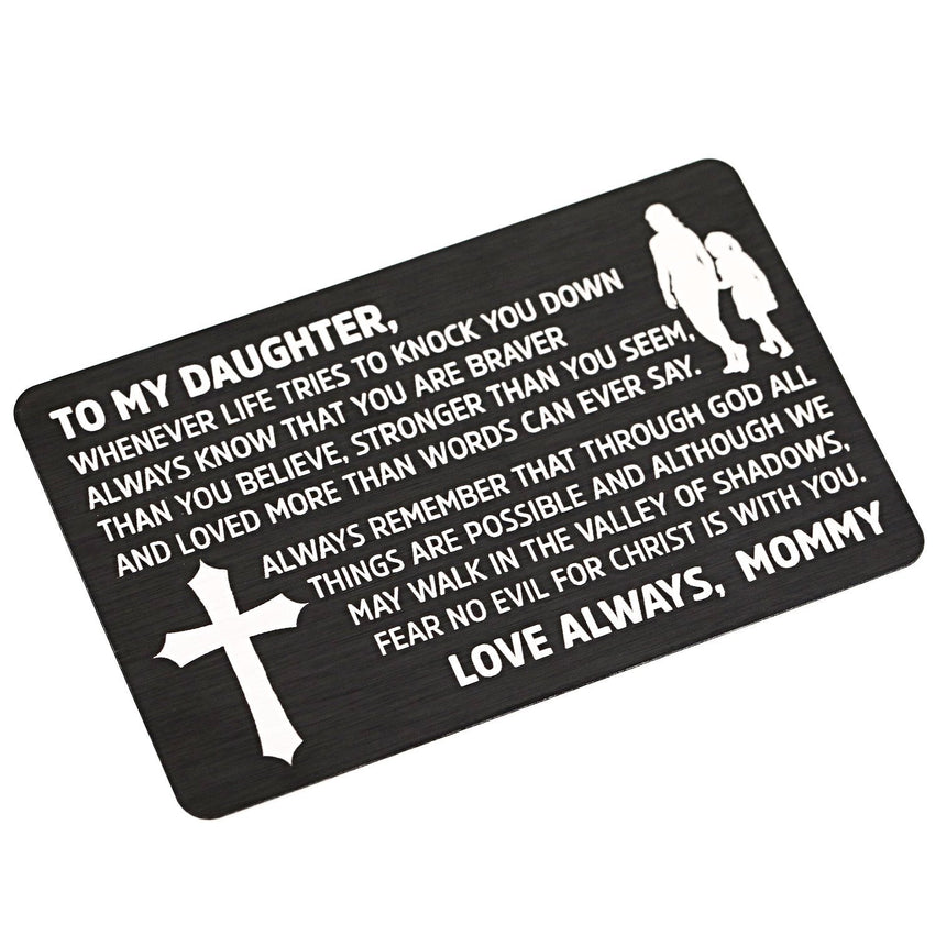 Black From Mommy to Daughter - Laser Etched Wallet Insert