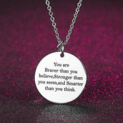 'Braver Than You Believe' Personalized Necklace