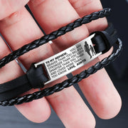 From Auntie to Nephew - Steel & Leather Style Bracelet