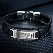 From Grandma to Grandson - Steel & Leather Style Bracelet
