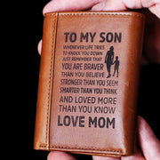 From Mom to Son - Genuine Premium Leather Wallet