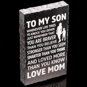 From Mom to Son - Laser Etched Marble Keepsake
