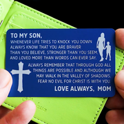 From Mom to Son - Laser Etched Wallet Insert