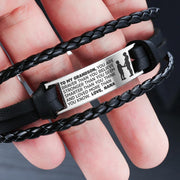 From Nana to Grandson - Steel & Leather Style Bracelet