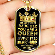 Gold Stainless Perfect Gift from Daddy to Daughter