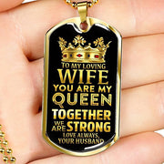 Gold Stainless Perfect Gift from Husband to Wife