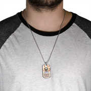 Hands of God Memorial Photo Dog Tag Necklace