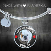 I Love My Bulldog Bangle 🐾❤️