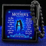 Lava A Mother's Prayer For My Son - Keepsake Card with Stone Cross Bracelet