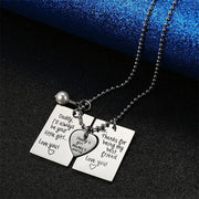 Mom & Daddy to Daughter Keychain/Necklace Trio