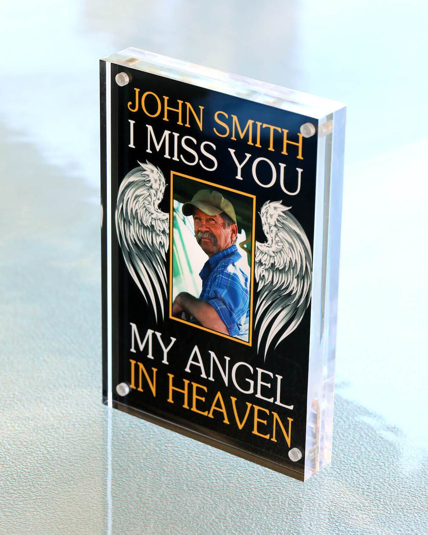 My Angel in Heaven Custom Acrylic Framed Photo
