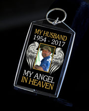 My Angel in Heaven Custom Photo Acrylic Keychain