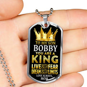 My Son is a King Custom Dog Tag Necklace