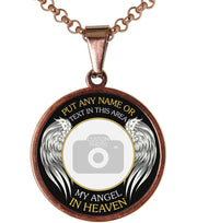 Rose My Angel in Heaven Memorial Photo Necklace