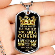 Silver Stainless Perfect Gift from Dad to Daughter
