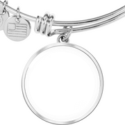 Stainless Silver My Child is My Everything Custom Photo Bangle
