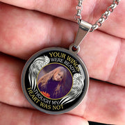 Your Wings Were Ready Memorial Photo Necklace