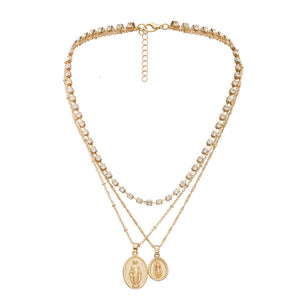 Gold coin layered necklace - Ferosh
