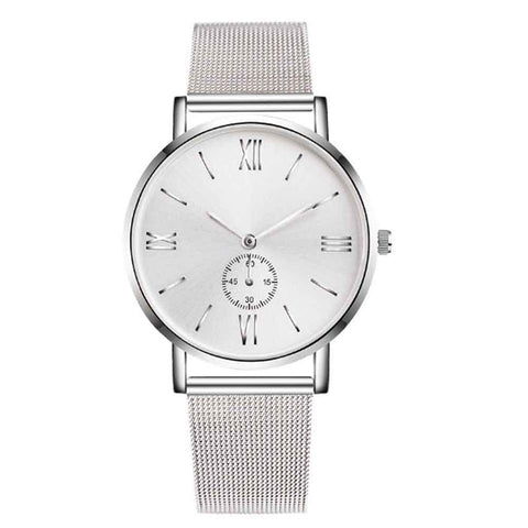 Alistair Silver Metal Strap Watch - Ferosh