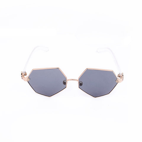Clifford Black Heptagonal Sunglasses - Ferosh