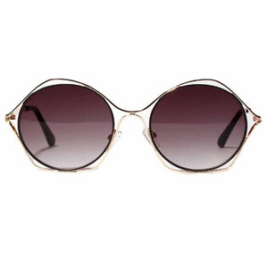 Double Bordered Burgundy Round Aviators - Ferosh